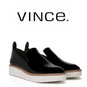 "Vince "" Sanders"" Leather Patent Slip On"
